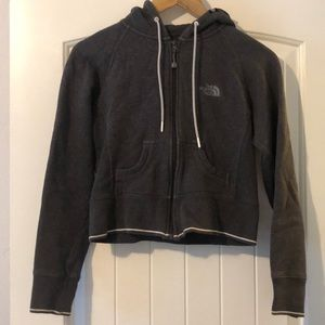 North face cropped hoodie